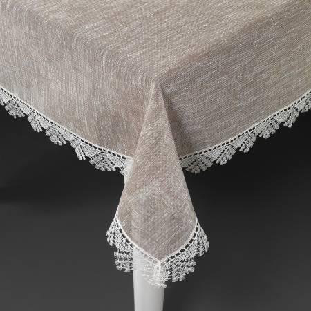 Schafer - Schafer Lily Keten Polyester Masa Örtüsü 150 x 220 cm - Bej