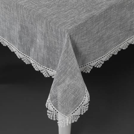 Schafer - Schafer Suzy Keten Masa Örtüsü 150 x 220 cm - Gri