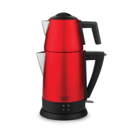 Schafer - Schafer Teepoınt Elektrikli Çay Makinesi - 5 Parça - Kırmızı